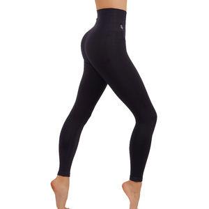 Two tone workout leggings yoga pants Black